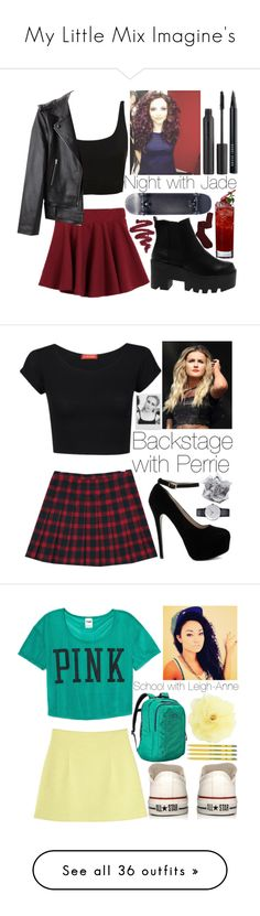 """My Little Mix Imagine's"" by kite200416 ❤ liked on Polyvore featuring Alexander Wang, Nudestix, Bobbi Brown Cosmetics, Aiayu, Influence, Polaroid, Klein & more, Monki, Victoria's Secret PINK and Converse"