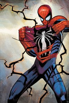 "comicbookartwork: "" Spider-Man by John Romita Jr. """