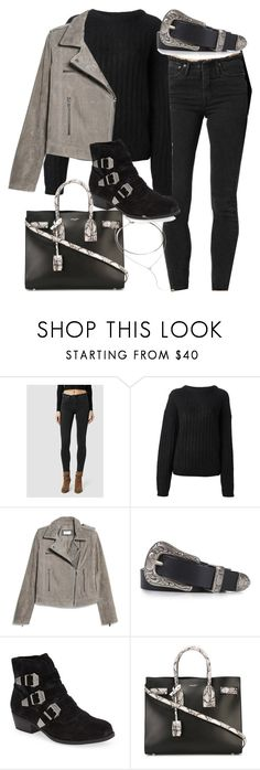 """""""Untitled #2353"""" by mollyk99 ❤ liked on Polyvore featuring AllSaints, Acne Studios, MANGO, Topshop, Yves Saint Laurent and Forever 21"""