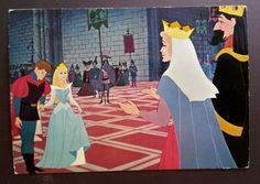 Sleeping Beauty Walt Disney Production Postcard Edition Corna early 1980s Rare