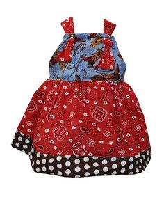Another great find on #zulily! Blue & Red Boots & Ropes Knot Dress - Toddler & Girls #zulilyfinds