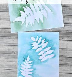 Watercolor leaf print - easy painting project // Falevél festmények - vízfestés egyszerűen // Mindy - craft tutorial collection // #crafts #DIY #craftTutorial #tutorial #PaperCrafts #KreatívÖtletekPapírból