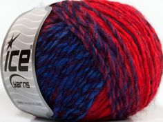 Fiber Content 50% Acrylic 50% Wool Red Purple Navy Brand ICE Blue fnt2-40508