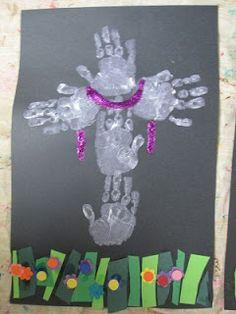 Easter (handprint crosses)