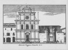 """Chiesa di S. Maurizio al Monastero Maggiore, corso Magenta. Marc'Antonio Dal Re, """"Vedute di Milano"""", incisione 84 (ca. 1745)."""