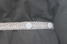 Reflective trench coat belt. Free pattern.