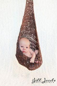 Newborn Stork Sack Crochet Pattern 504 by SunsetCrochet on Etsy, $5.49