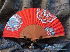 Vintage Fans, Hand Fan, Pretty, Accessories, Ideas Para, Tumblr, Paper, Hand Fans, Painted Fan