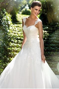 straps wedding dress