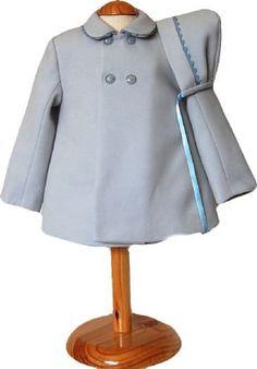Conjunto abrigo y capota de paño hecho a mano unisex