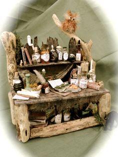 Dolls House Miniatures - A Hooting Experience Table. $195.00, via Etsy.