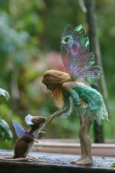 Fairy greets mouse