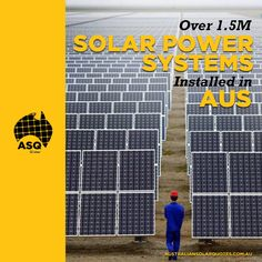 With over 1.5 million #SolarPower systems installed, comprising of more than 23.3 million solar panels, Australia now has more panels than people! | #ASQ http://asq.site/bXe5