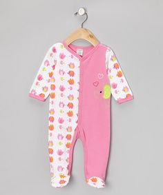 Take a look at this Pink Elephant Footie - Infant by Babyworks on #zulily today!