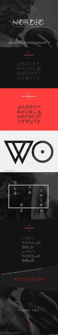 Nordic Font Family.