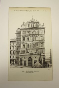 House in the Wallfischgasse , Vienna, Austria, EUR, Ludwig Tischler Austria Travel, Old Maps, Vienna Austria, Browning, Culture, Facades, American, Hungary, News