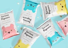Serious Popcorn packaging 2016 by DDMMYY, Creative Director Kelvin Soh