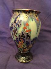 Crown Devon Fairycastle Vase, Fieldings, Art Deco 1930's