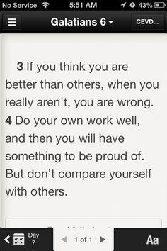 Galatians 6:3-4