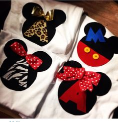 custome made initials dinsey shirts