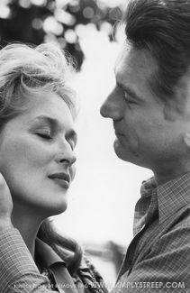 Streep & Deniro. I love this couple! There's something about her vulnerable femininity & his strength & gallantry that gets me every time