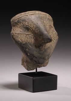 Neolithic pottery head from an idol Vinca Culture, the Balkans. Ca. 5th Millennium BC