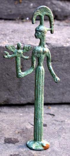 Etruscan Minerva bronze statue, 7th century BC