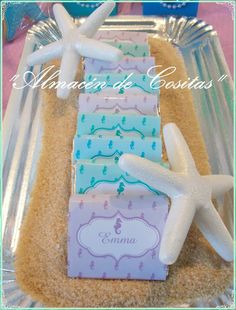Candy at a mermaid birthday party! See more party ideas at CatchMyParty.com!