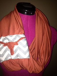 University of Texas Longhorns infinity scarf  on Etsy, $12.00