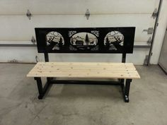 Decorative bench $250. Made by Lehman Metal.  Www.Lehmanmetal.com,  www.facebook.com/lehmanmetals