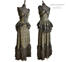 2 piece dress art nouveau, edwardian, victorian, Somnia Romantica by Marjolein Turin