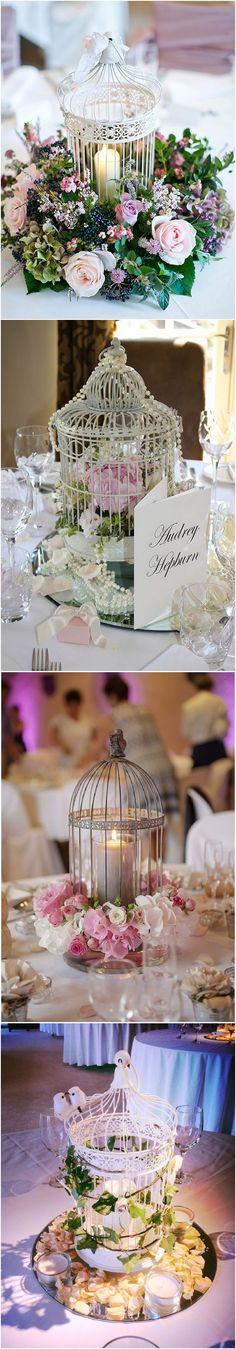 Vintage Birdcage wedding table centerpieces #weddings #centerpieces #vintage #vintageweddings #deerpearlflowers #fashion ❤️ http://www.deerpearlflowers.com/vintage-birdcage-wedding-centerpieces/