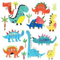 Leading Illustration & Publishing Agency based in London, New York & Marbella. Dinosaur Art, Cute Dinosaur, Dinosaur Prints, Dinosaur Printables, Valentines Illustration, Nursery Art, Sticker Design, Art Lessons, Wrapped Canvas
