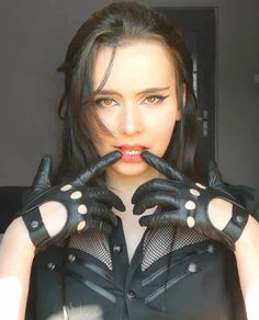 Leather Driving Gloves, Leather Gloves, Elegant, Awesome, Sexy, Girls, Beautiful, Fashion, Woman
