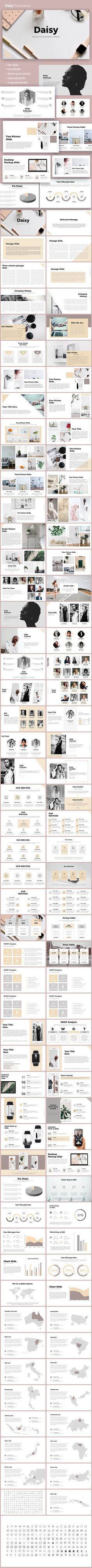 Daisy Powerpoint Template - PowerPoint Templates Presentation Templates