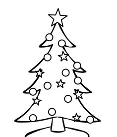 Christmas Coloring Tree Pages For Children ChildrenFull Size Image