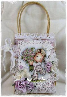 OOAK Magnolia Tilda Gift Bag by TinchyUstvarja on Etsy, €14.50
