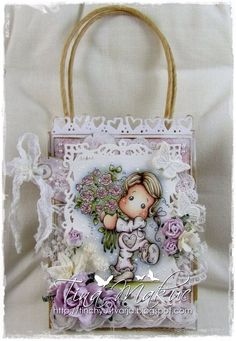 OOAK Magnolia Tilda Gift Bag by TinchyUstvarja on Etsy, €14.50