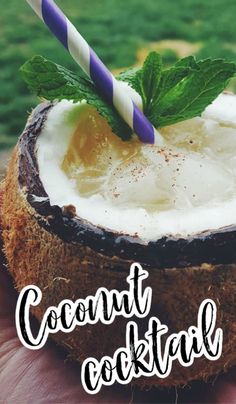 Tropical Coconut Rum Cocktail served in a coconut shell. Close your eyes and vacation anywhere while sipping this tropical rum cocktail. Cocktails Using Rum, Summer Rum Drinks, Rum Cocktail Recipes, Cocktail And Mocktail, Cocktail Ideas, Coconut Drinks, Coconut Rum, Coconut Recipes, Spicy Candy
