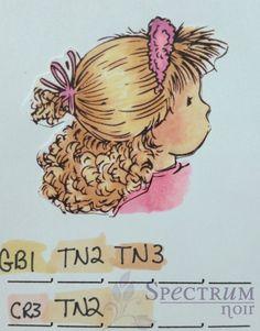 Blonde Hair Color Combinations - Spectrum Noir Craft Pens & Markers ...