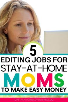 What's a freelance editing job? What are the 5 editing jobs for Stay-at-Home Moms that make them easy money? Learn all you need to know here. Earn Money Easily, Make Money Now, Make Easy Money, Ways To Earn Money, Make Money From Home, Online Job Opportunities, Make Money Online Surveys, Freelance Writing Jobs, Passive Income