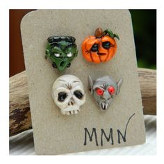 Handmade Polymer Clay Halloween Earrings