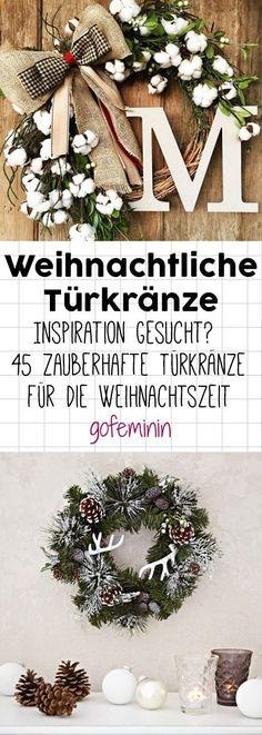 45 zauberhafte Türkränze für die Weihnachtszeit #türkranz #türkranzwinter #türkranzweihnachten #weihnachtsdeko