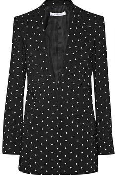 Givenchy Blazer in cross-print black cady #Givenchy