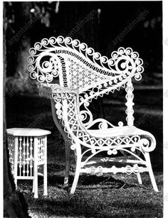 2012 Chair File 3 Antique Wicker Furniture at Home of Kathy Bonhus Press Photo Cane Furniture, Rattan Furniture, Antique Furniture, Victorian Decor, Victorian Homes, Vintage Decor, Painted Wicker, White Wicker, Press Photo