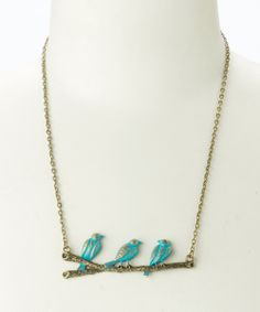 Take a look at the Narwhal & Raw Birds on a Branch Bib Necklace on #zulily today!