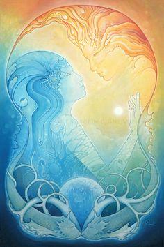 Horizon mythique Art Print de la peinture à par RobinQuinlivan