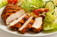 This spicy grilled chicken recipe is easy to prepare and delicious hot or cold. Serve it with a simple salad for a really healthy meal. Foods With No Carbohydrates, Low Carbohydrate Diet, Low Carb Diet, No Carb Recipes, Diet Recipes, Cooking Recipes, Healthy Recipes, Cooking Food, Healthy Options