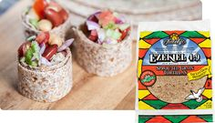 Try these healthy tortillas made fresh from organic grains. Ezekiel Sprouted Whole Grain Tortillas are savory & packed with protein, vitamins, & natural fiber. Vegan Fast Food, Healthy Cooking, Healthy Eating, Vegan Meals, Whole Foods Market, Real Food Recipes, Yummy Food, Healthy Recipes, Tortilla Bowls