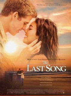 The Last Song;  One of my all time favorite movies. It was such a cute movie.   Its all about Ronnie (Miley) who goes to her dads for the summer, but her and her dad dont get along but she meets a guy named Will and they end up falling in love. She ends up getting closer to dad but things take a big turn.   Really cute, and good<3.